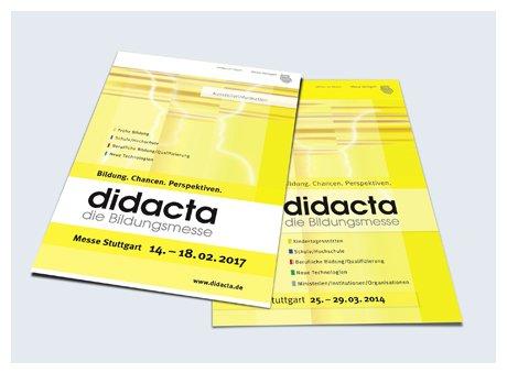 Kunde: Messe Stuttgart<br/>Projekt: didacta, Aussteller- und Besucherwerbung