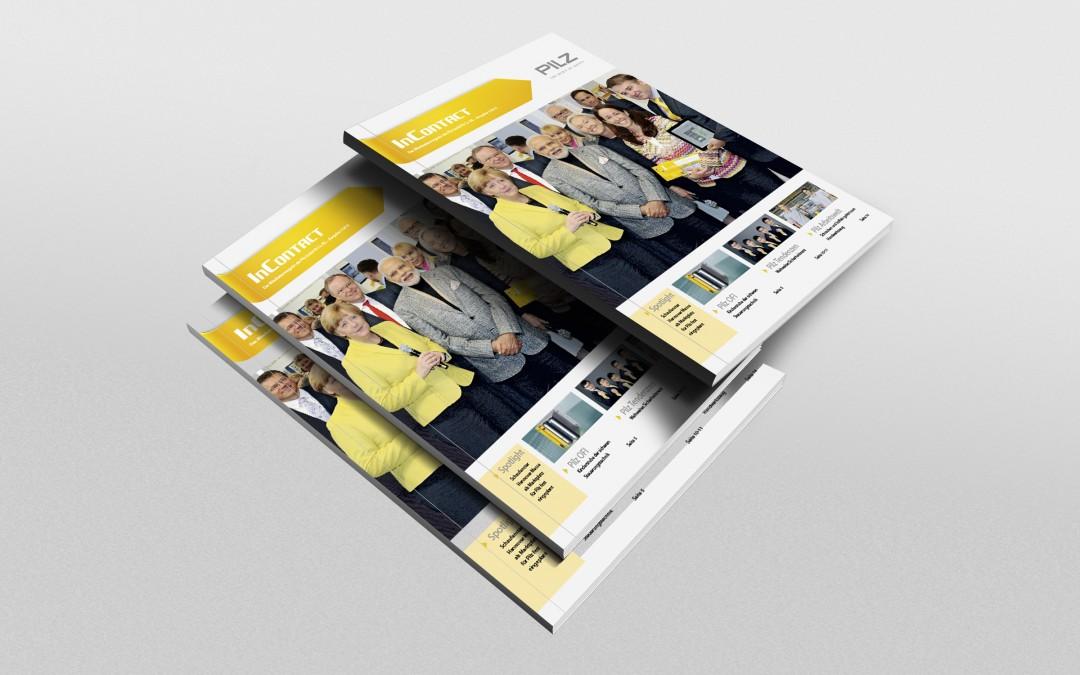 Kunde: PilzProjekt: InContact Mitarbeiterzeitung